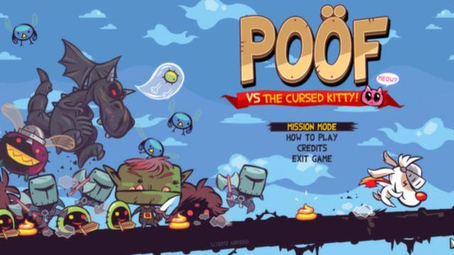 Poof VS the Cursed Kitty | title screen